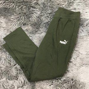 Puma Women's Sweatpants   Green   Small